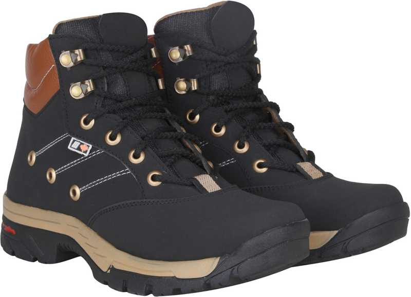 Kraasa Climber Boots For Men (Black)