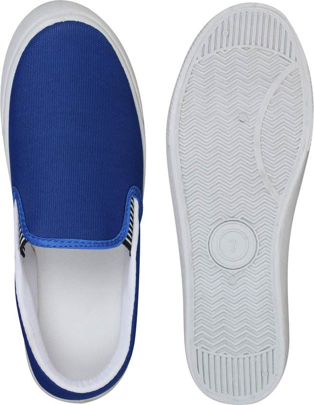 Shoe Daddy Slip On Sneakers For Men (BlueWhite)