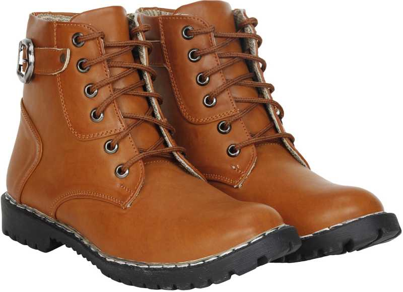 Kraasa Live Up Boots For Men (Tan)