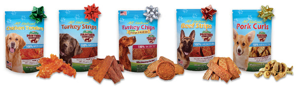 healthy partner pet treat, holiday, all-natural gift