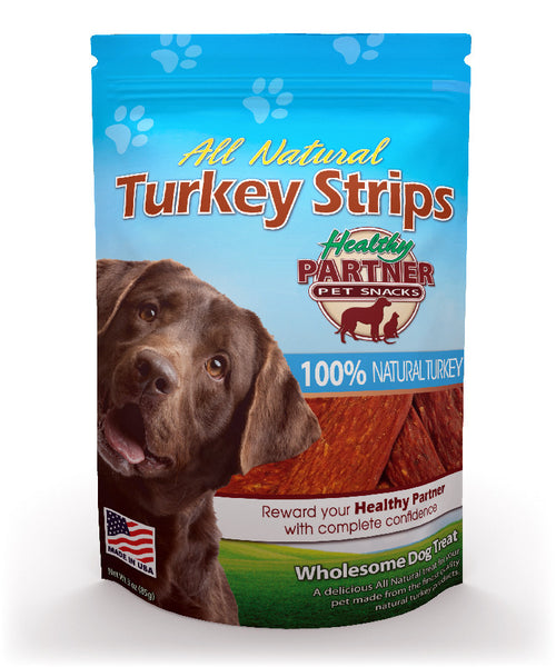 All-Natural Dog Treat Turkey Strip
