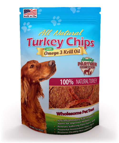 All-Natural Turkey Chips with Krill Oil