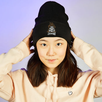 Too Many Spirits Beanie - Glow in the dark ghostie