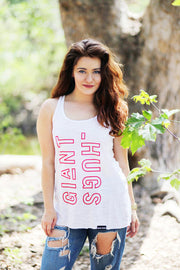 GIANT HUGS - WHITE TANK TOP (LADIES)