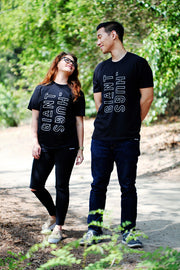 GIANT HUGS - BLACK SHIRT (UNISEX)
