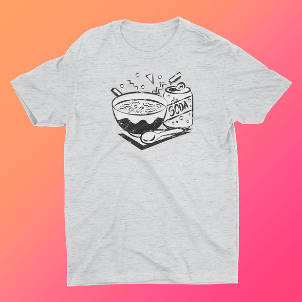 Chicken Noodle Soup Retro Style Monochromatic (UNISEX)