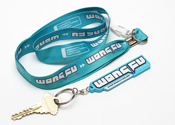 Wong Fu Keychain and Lanyard