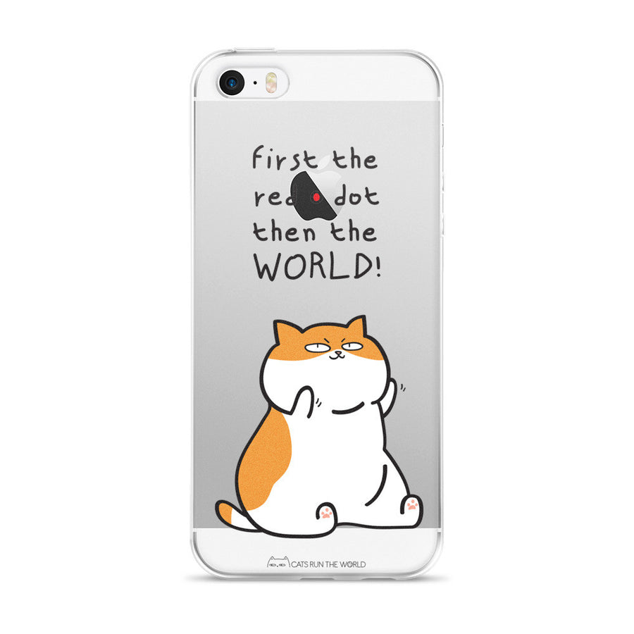 WORLD DOMINATION! (iPhone 5/5s/Se, 6/6s, 6/6s Plus Clear Case)