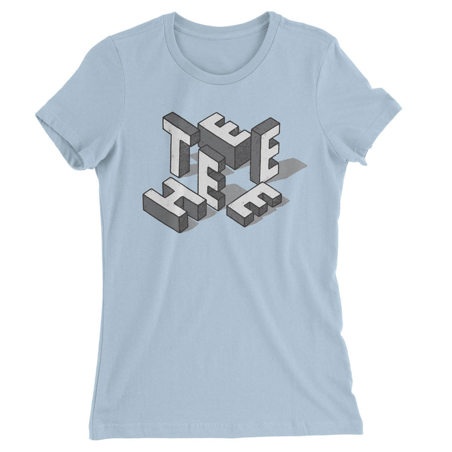 TEEHEE White Blocks (Ladies Fitted)