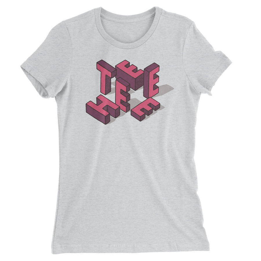 TEEHEE Pink Blocks (Ladies Fitted)
