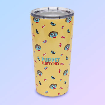 Puppet History Yellow Tumbler