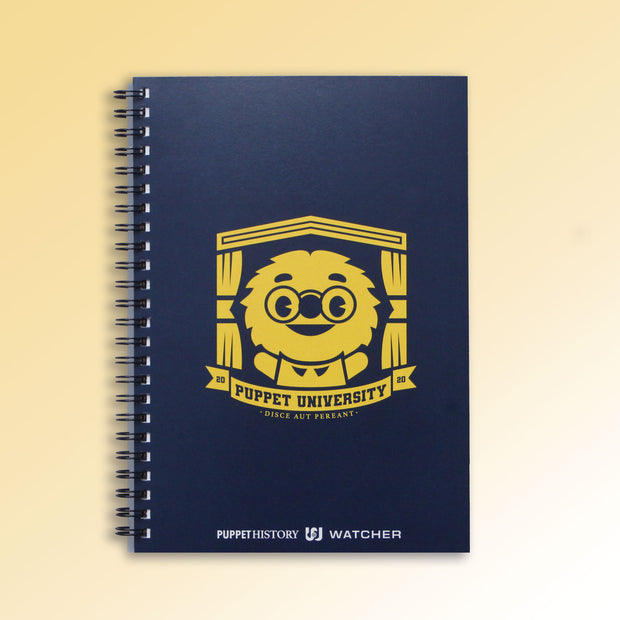 Puppet University - The Professor Crest Spiral Notebook