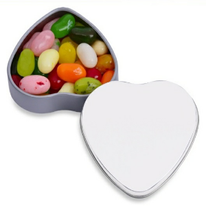 Personalized heart candy container