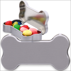 Personalized Dog Bone Container