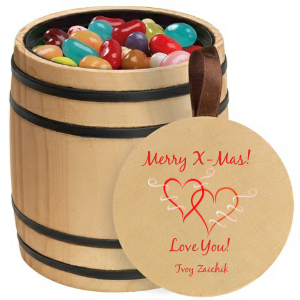 Personalized Wooden Barrel
