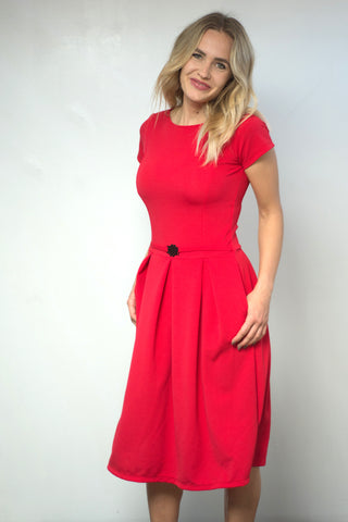 Cassia Dress- Red