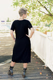 Leta Dress | Black Scalloped Eyelet