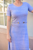 Katelynn Dress- Sky Blue With boho Belt