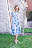 Kierston Dress- Sky Blue Floral