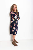 Tessa Tween Dress | Navy Polka Dot and Floral