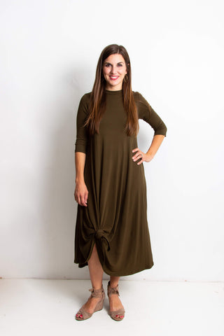 Erika Long Dress | Olive
