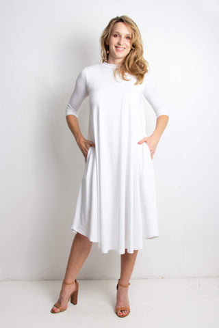 Erika Long Dress | White