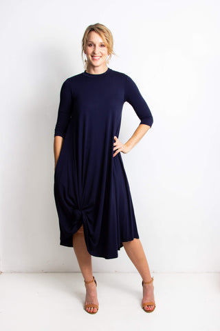 Erika Long Dress | Navy Blue