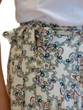 Morgan Wrap Skirt- Cream Paisley