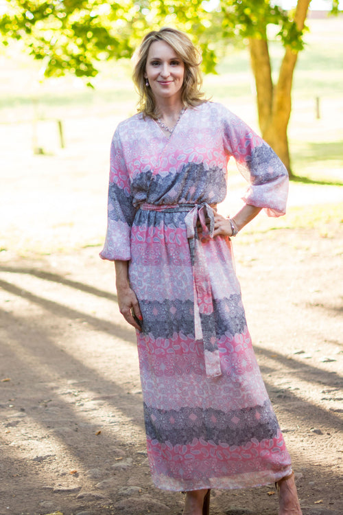 e39cfb55e3b1d Kailey Dress- Pink & Grey Paisley Maxi – Rosie&Claire