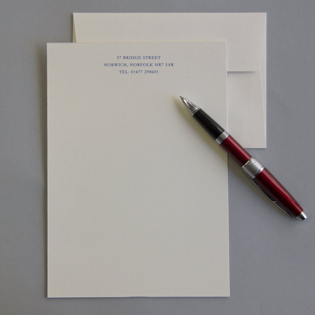 'The Dedham' Personal Stationery