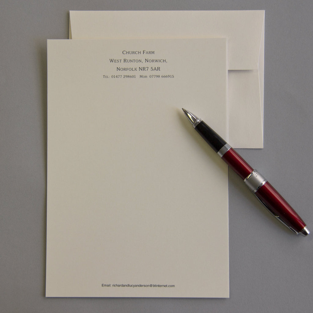 'The Hadleigh' Personal Stationery