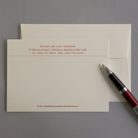 'The Hintlesham' Correspondence Cards