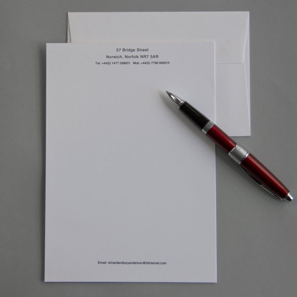 'The Melford' Personal Stationery
