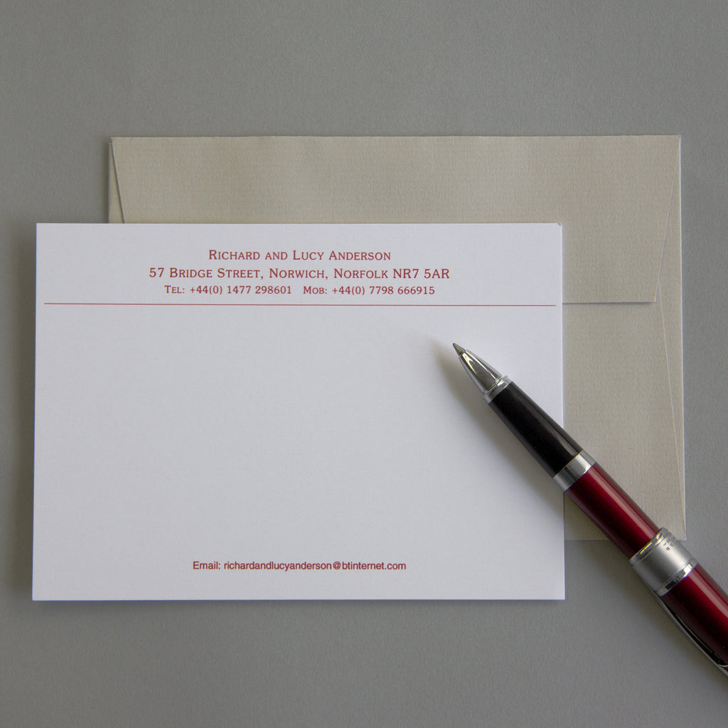 'The Needham' Correspondence Cards