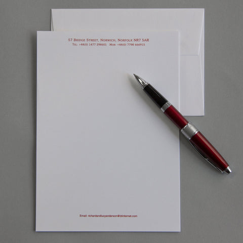 'The Needham' Personal Stationery