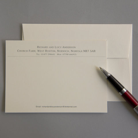 'The Sudbury' Correspondence Cards
