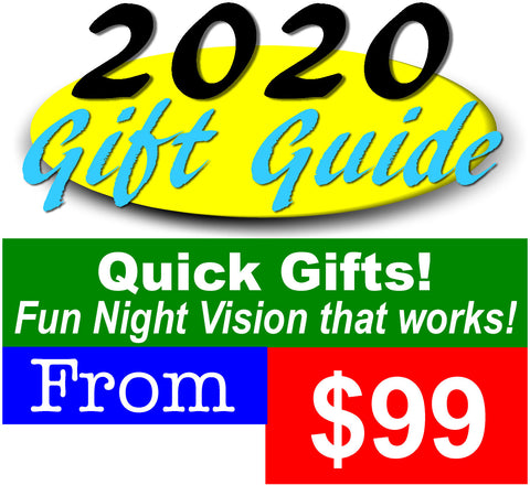 Affordable Night Vision Optics and Accessory gifts priced from $99 to $249
