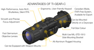 GSCI TI-GEAR-Clip-On Thermal Imaging Scope Features