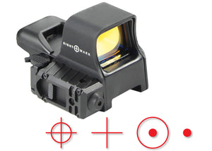 Sightmark Ultra Dual Shot Night Vision Sight showing Selectible Reticles