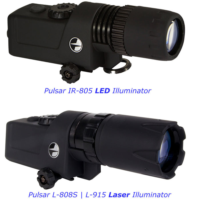 Pulsar LED | LASER Series Rail Mount Infrared Illuminators | Covert | Ultra-Covert
