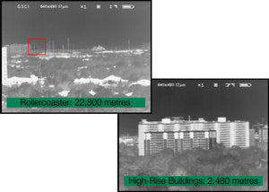 GSCI TLR-7100B and TLR-7150B Ultra Long-Range Thermal Binoculars, actual image captures