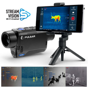 Pulsar Axion Series Thermal Imaging Scopes | Wi-Fi Enabled | Stream Vision App