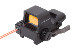 Sightmark Ultra Dual Shot Night Vision Sight showing Red Laser (simulated)