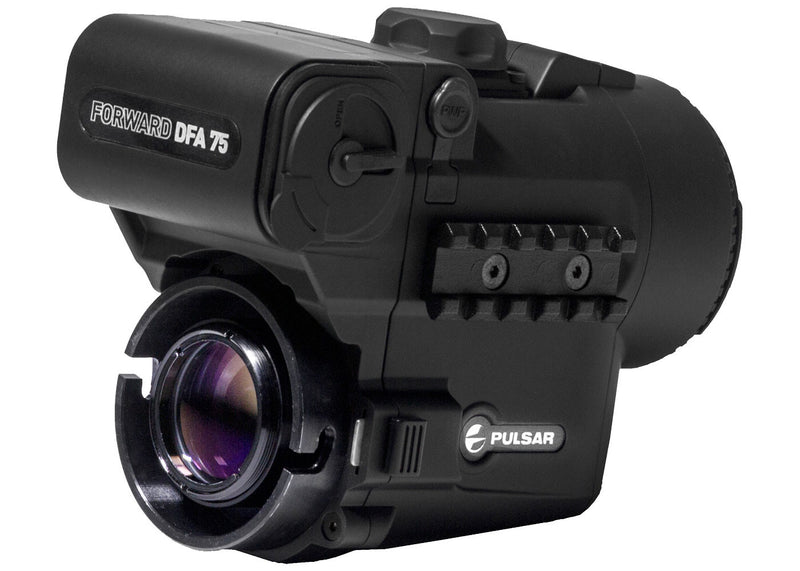 Pulsar Forward DFA75 Digital Clip-On Night Vision Scope, showing clip-on mounting receptor