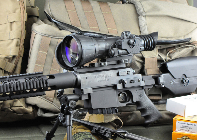 Armasight Vulcan 6x145 Gen3 FLAG-MG Night Vision Hunting Scope, shown mounted