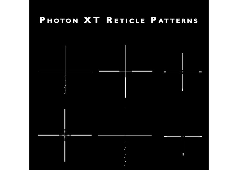 Sightmark Photon-XT 6.5x50 Digital Night Vision Hunting Scope, showing assorted reticles