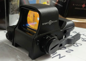 Sightmark Ultra Dual Shot Night Vision Sight with Red Laser, Selectible Reticles and Lever Mount