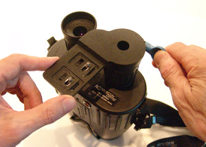 SP-1 Smartphone Optical Adapter, installing on an LRB-4000CI Laser Rangefinder