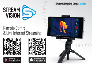Pulsar Helion XP Professional Series High Resolution Wi-Fi Enabled Thermal Scope Stream Vision iOS and Android apps