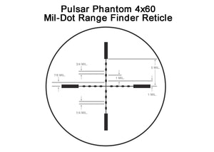 Phantom Series Gen3 Auto-Gated Night Vision Hunting Scopes, Mil-Dot Range Finder Reticle